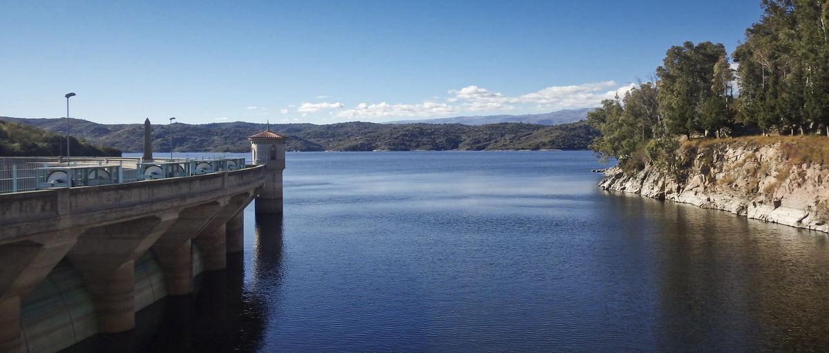 Dique la Viña Architecture Bridge Built Structure Connection Dam Lake Landscape Mountain Nature No People Outdoors Scenics - Nature Tower Tranquility Water Waterfront
