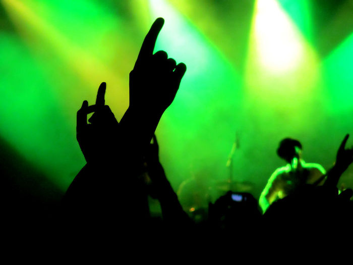 Arms Raised Arts Culture And Entertainment Audience Concert Crowd Dancing Event Human Hand Illuminated Lights Music Nightlife Silhouette Stage - Performance Space Stage Light Whomadewho TakeoverMusic Neon Life