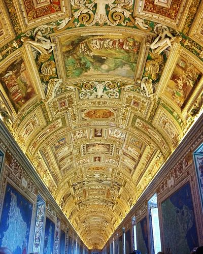 Art And Craft Ceiling Indoors  Arch No People Low Angle View Architecture Fresco Close-up Fresco Decorations