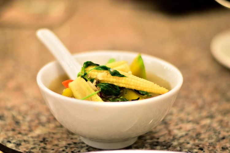 Close-up Food Healthy Eating Healthy Lifestyle Soup Spicy Mixed Vegetable Soup Thai Food Vegetable Soup Thai Style