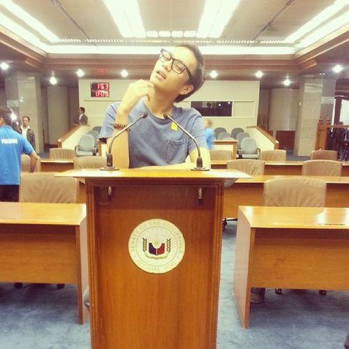 Presiding an Echos Senate Meeting HAHAHA