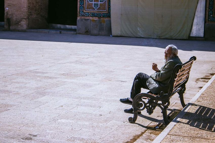 Tolstoy Sitting One Person Real People Seat Lifestyles Day Outdoors Men Side View Sunlight