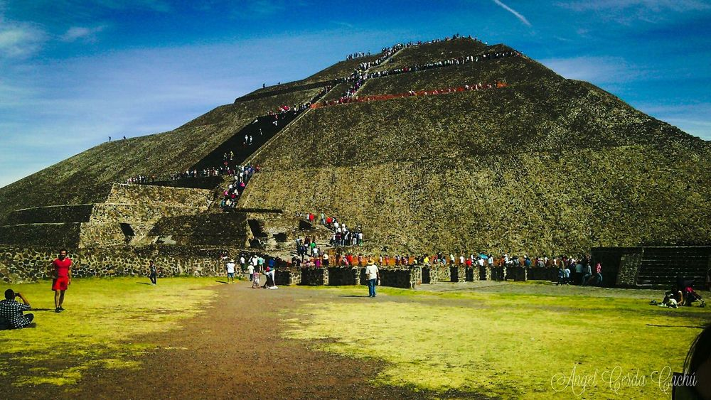 First Eyeem Photo Sky Piramide Del Sol Green Mexico Mexicolors Teotihuacan Eyem Best Shots EyeEm Best Shots EyeEm Best Edits