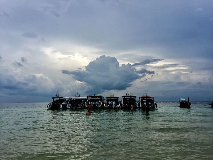 Sea Sea And Sky Seascape Seaside Sea View Beach Cloud Cloud - Sky Clouds And Sky Clouds Cloudy Nature Water Sky Sailing Boat Boats Boats⛵️ Thailand Thailandtravel Phuket Lost In The Landscape