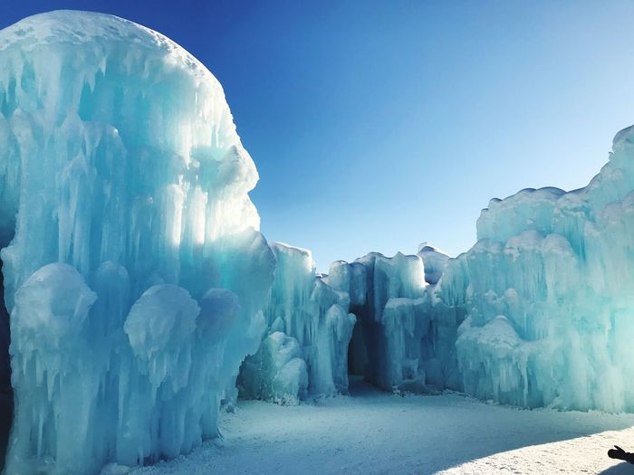 Ice castle Beauty In Nature Tranquil Scene Ice Winter