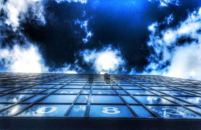 Sun Sky Cloud Clouds And Sky Clouds Skyscraper Windows View Mirror Prague