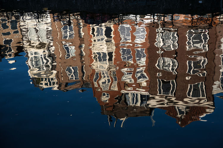 Amsterdam Building Exterior Canal Cityscape Day Disturbed Reflection Dutch Holland Houses Reflected In Water No People Outdoors Water