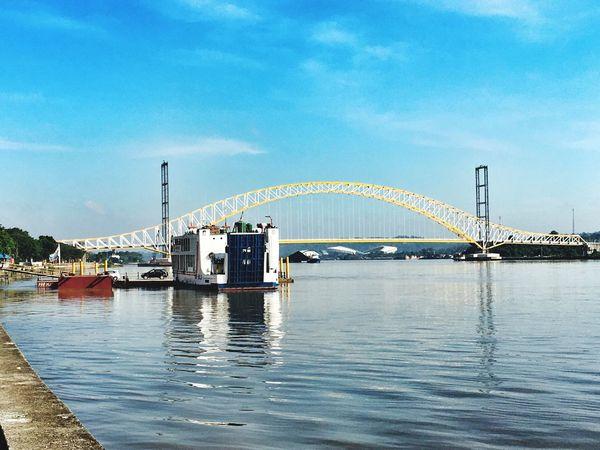 Bridge New Jembatan KUKAR Kutai Kartanegara Kalimantan Timur Kalimantan