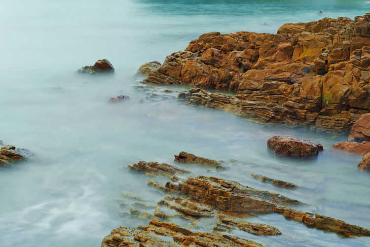 Rocks on sea shore