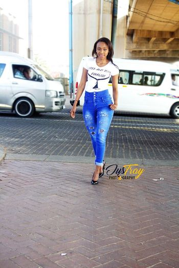 While she's doing the Walk Jozi Photography Model