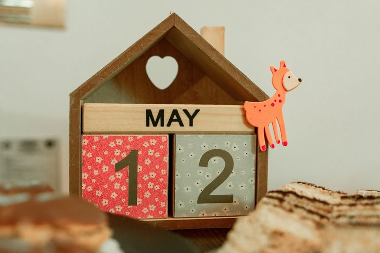 Close-up of stuffed toy on wood