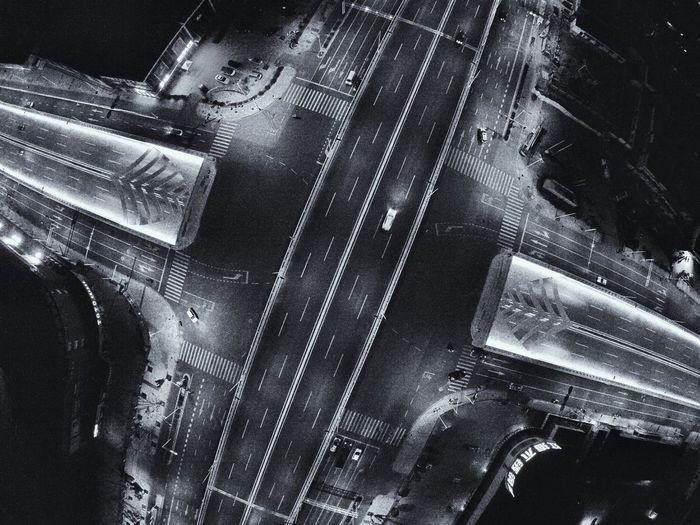 Bridge Aerial Night Shots