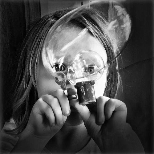 More Bubbles... Bubbles Blackandwhite Portrait IPhoneography B&W Portrait Capture The Moment