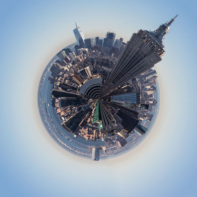 Little planet image with Empire State Building, New York Architecture Architecture Building Exterior City City City Life Cityscape Digitally Generated Digitally Generated Image Empire State Building Little Planet Luxury Modern New York No People One World Trade Center Outdoors Sky Skyscraper Touristic Destination Travel Destinations Travelphotography Urban Skyline USA World Famous