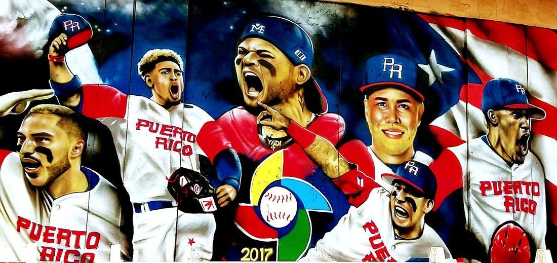 Mural Painting at my hometown honoring World Baseball Classic 2017 Team Puerto Rico Sports Team Baseball Colors Samsung Smart Camera 🇵🇷⚾🇵🇷⚾🇵🇷 Orgullo Boricua