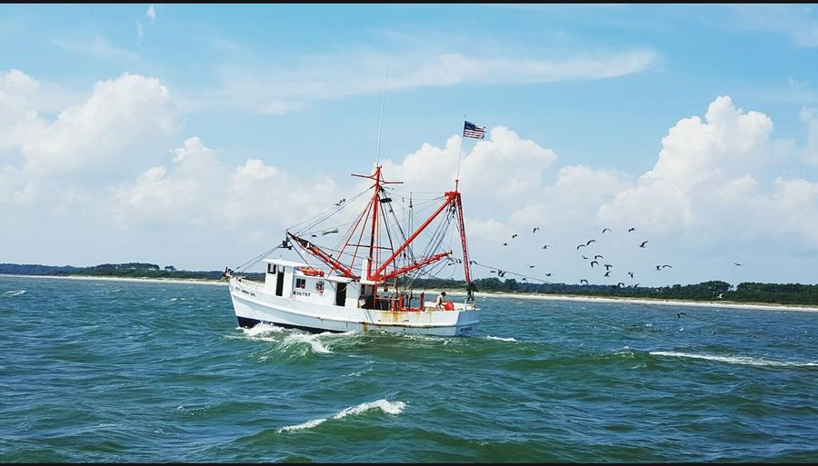 Shrimp boat in