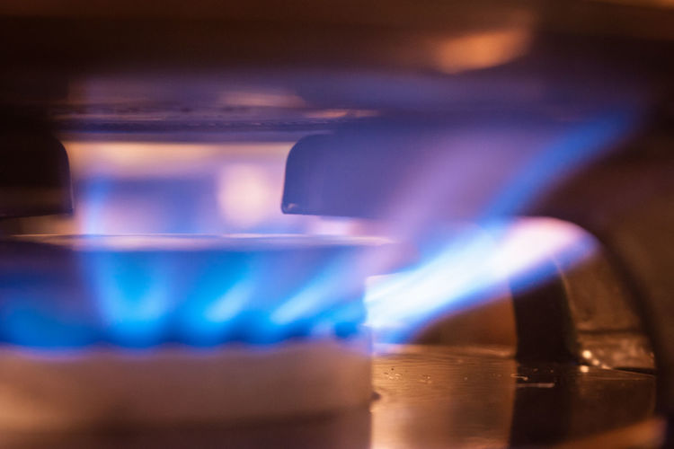 Macro shot of a gas stove top flame. Blue Blue Flame Close-up Fire Gas Burner Gas Fire Indoors  Kitchen Macro Macro Beauty Macro Photography Macro_collection Selective Focus Stove Burner Stove F Stovetop