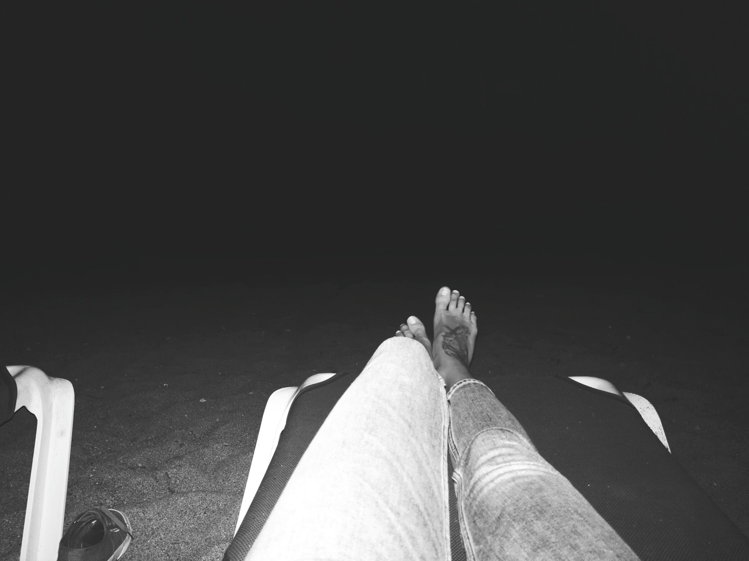 lifestyles, low section, personal perspective, person, leisure activity, copy space, standing, barefoot, men, human foot, part of, indoors, relaxation, shadow, high angle view