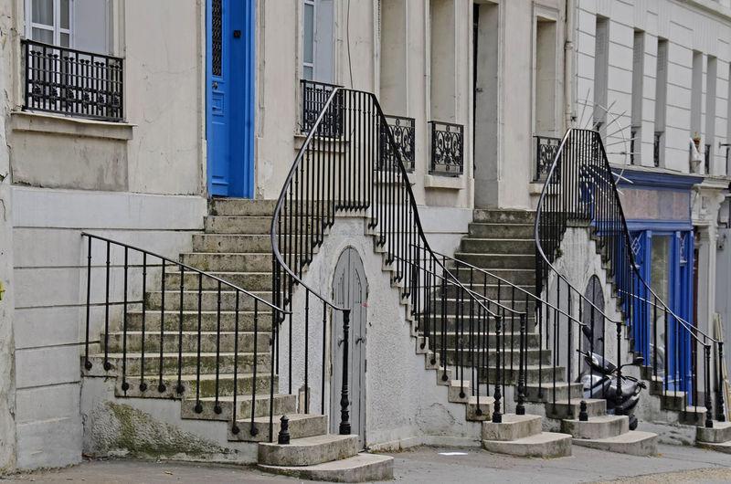 Architecture Building Exterior Day Fenêtres No People Outdoors Paris, France  Rue De Bagnolet Paris Staircase Stairs Steps Windows Windows And Doors