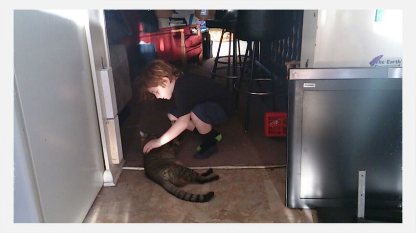 my son and Leo, the Cat Family Matters Atxkids Near And Far