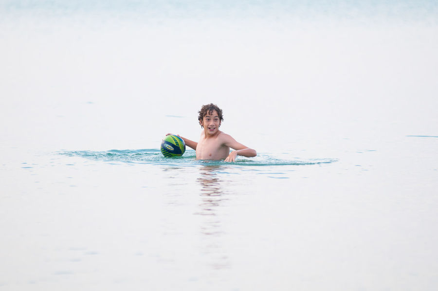 Lake Huron, Canada Swimming Balloons Beauty In Nature Child Childhood Day Landscape Leisure Activity Nature One Person Outdoors Pinery Provincial Park Playing Real People Sea Sky Vacations Water