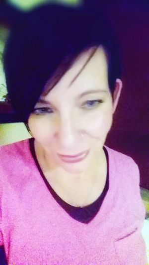 Feeling pretty in pink! Philadelphia Pennsylvania City Of Brotherly Love New Hair Cut Purple Hair Blue Eyes My Quirky Style Let Your Hair Down Inner Power Pink Lipstick  Nose Ring Winking Pierced Dyed Hair Pink Hair