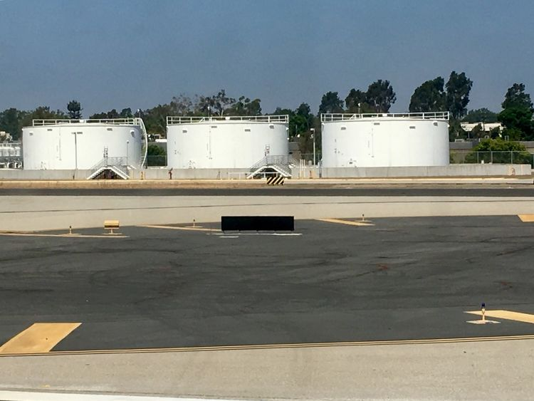Jet fuel tanks. Built Structure Architecture Transportation Industry Sky Day Building Exterior Jet Outdoors Fuel Fuel Tank Storage Tank Airport Photography Aviation Aviation Photography Tank Storage Tanks Three Threes Taking Photos Eye4photography  This Week On Eyeem From My Point Of View From An Airplane Window Backgrounds