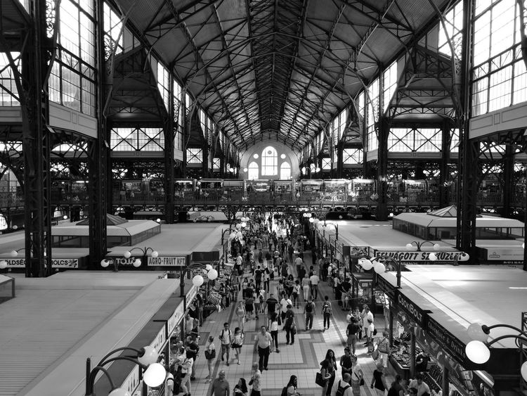 Indoors  Large Group Of People Travel Built Structure market Travel Destinations People Transportation Building - Type Of Building Real People Day Sitting The Architect - 2017 EyeEm Awards Black And White Friday EyeEm Ready