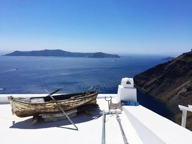 Aegean Sea ☁️ Santorini, Greece Santorini Scenery Scenery Shots Relaxing Capturing Freedom Enjoying Life Sea And Sky Seascape IPhoneography