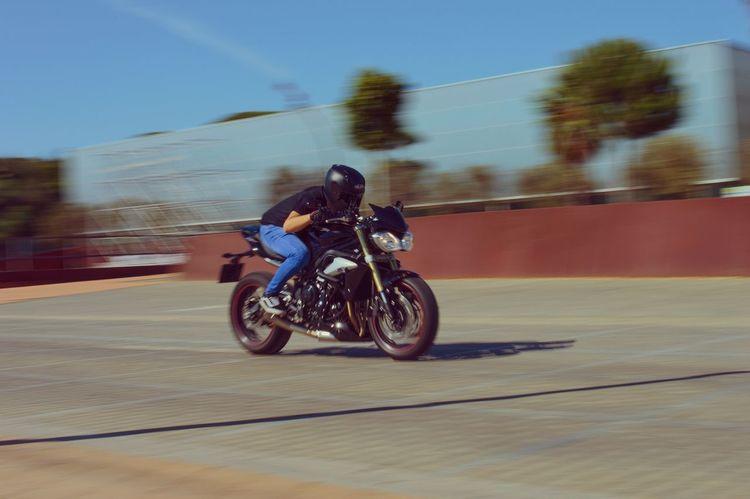 Triumph Motorcycle Triumph Triumph Street Triple D3200 35mm Film 35mm Huelva