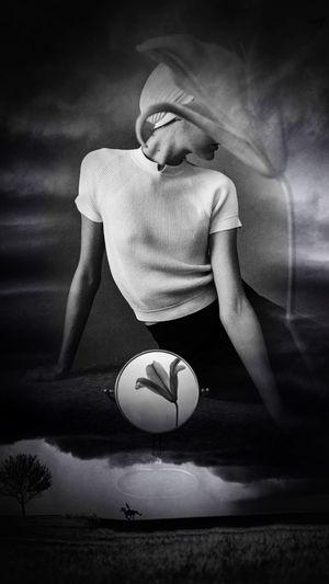 One Person Dreams Montage Photography Noir Et Blanc