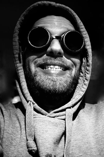 Black & White Black And White Black And White Photography Black&white Blackandwhite Blackandwhite Photography Close-up Day Googles One Person People Portrait PortraitPhotography Steampunk Sunglasses Supernovaselfie