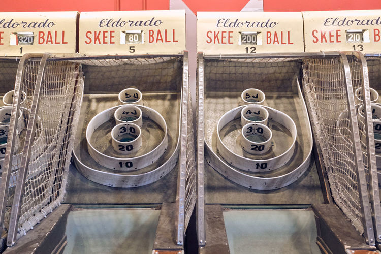 Communication Text No People Information Day Metal Close-up Sign Information Sign Outdoors Number Container Technology Old High Angle View Finance Business Skeeball Arcade Game
