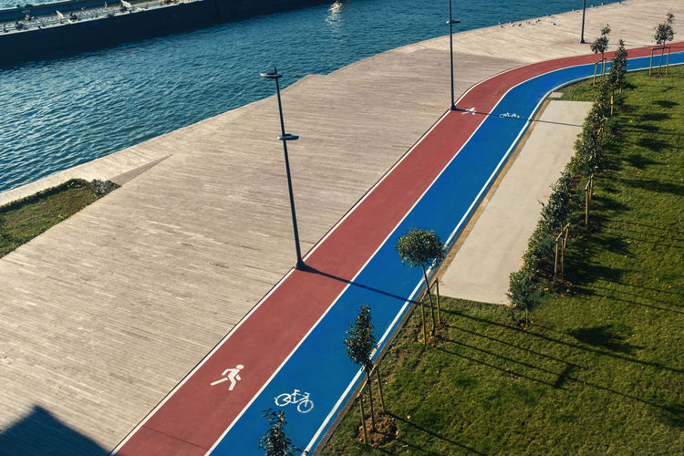 Water Day Sport Nature High Angle View Sunlight Outdoors Plant Blue Grass Shadow No People Architecture Land Track And Field Running Area Istanbul Karaköy New Empty Sea Bosphorus Sea Side