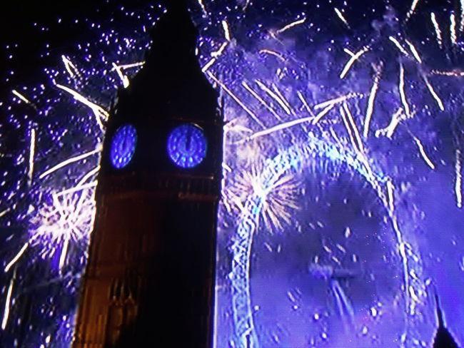 London Eye New Year's Eve Fireworks London Jasonpearce 2015  Big Ben Twelve Midnight