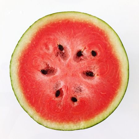 Cicle Half Have Fruit Healthy Eating SLICE Food And Drink Cross Section Studio Shot Freshness Still Life Food Watermelon Halved Close-up White Background