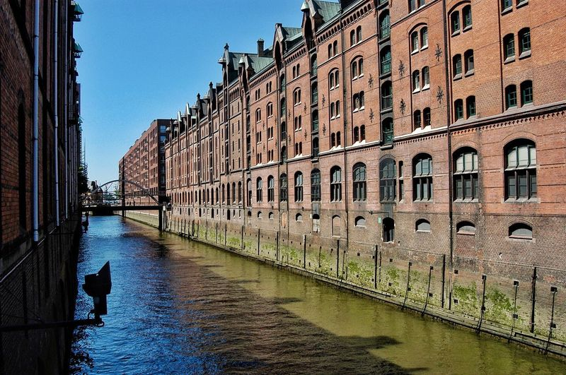 Germany Architecture Building Exterior Built Structure Water Building Nature Sky City Transportation Day Canal Outdoors Waterfront Travel Destinations Clear Sky Men Residential District Reflection