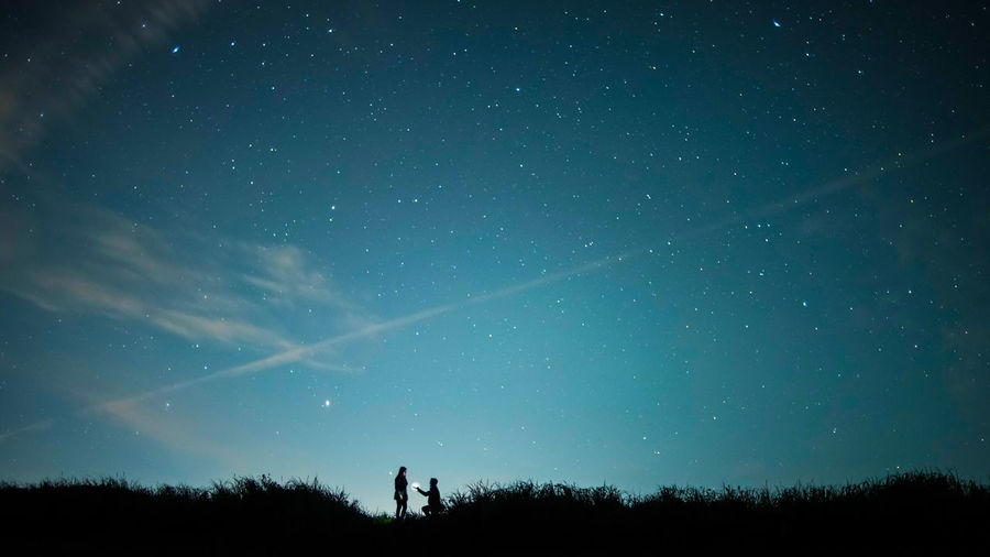 The Week On EyeEm Adult Astronomy Beauty In Nature Full Length Galaxy Leisure Activity Lifestyles Low Angle View Men Nature Night Outdoors People Real People Scenics Silhouette Sky Standing Star - Space Togetherness Tree Two People Fresh On Market 2017