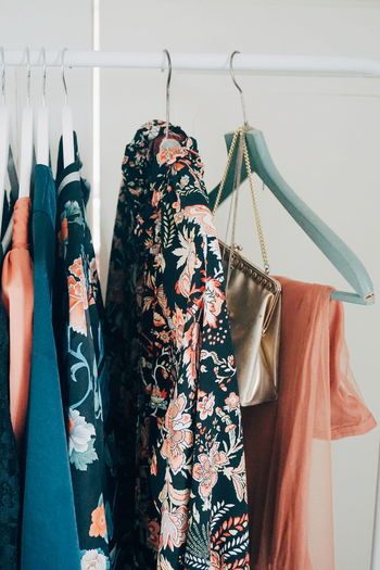 cloths rack Fashion EyeEm Selects Coathanger Hanging Females Choice Consumerism Retail  Fashion Variation Store Customer  Closet Floral Pattern Boutique Coat Hook Fabric Clothes Clothesline Shopaholic Clothes Rack Womenswear Trying On Fitting Room Clothing Store