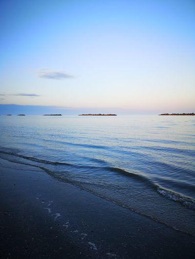 Water Nautical Vessel Sea Beach Sunset Blue Horizon Summer Awe Low Tide
