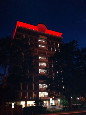 Houston Cole Library Jacksonville State University Architecture Night Illuminated Building Exterior