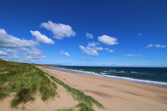 Northumberland not a soul in sight :) Cheswick Beach Beach Beauty In Nature Blue Cloud - Sky Horizon Horizon Over Water Land Marram Grass Nature No People Northumberland Northumberland Coastline Outdoors Sand Scenics - Nature Sea Sky Tranquil Scene Tranquility Water