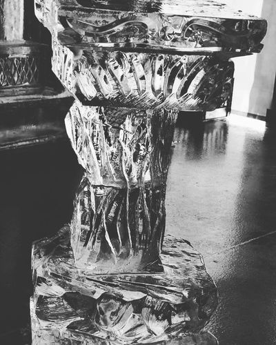Bar table Indoors  Icesculpture SkylandsStadium Newjersey Photography EyeEm Gallery Frozen Cold Temperature Njphotographer Black And White Photography Photo Of The Day
