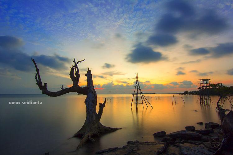 Sunset pulau