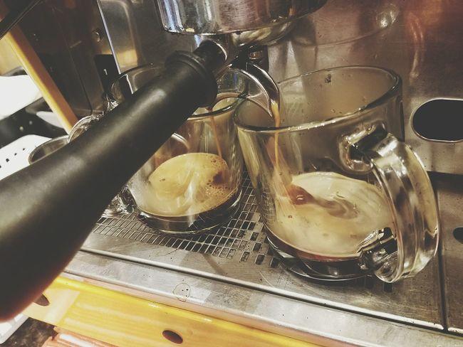 Food And Drink Establishment Indoors  Close-up Espresso Machine Espressoshot Espresso Maker Coffeehouse Coffee ☕ Cups And Mugs Coffee Cups