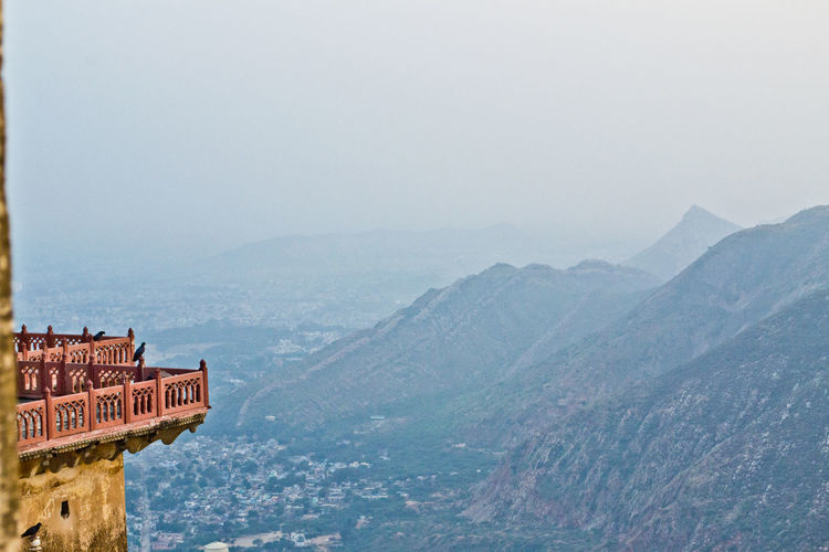 view from the fort Indian Forts Alwar Fort Awesome View Bala Fort Bala Qila Blue And Yellow Environment Mountain Mountain Range Nature And City Outdoors Rajasthani Fort Scenics - Nature Serene Outdoors The Fort Tranquil Scene Yellow And Blue