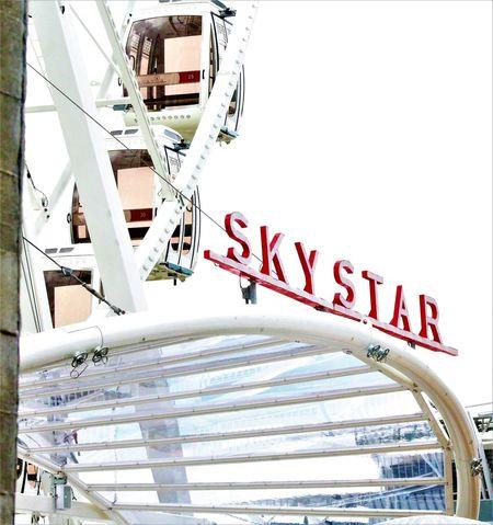 sky star in Cincinnati Ohio Ferris Wheel Adventure Adventure In The Sky Architecture Fun Excitements In The Air Carnival Ride City Text