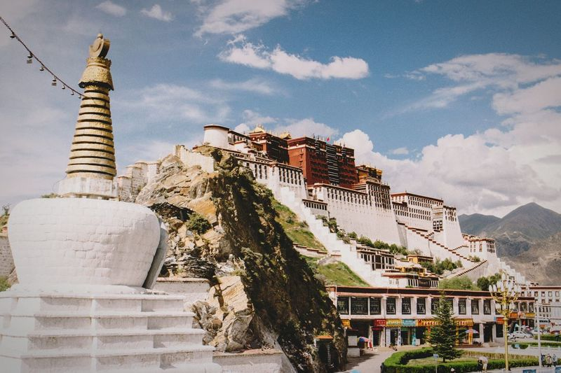 Lhasa, Tibet Potala Palace Potala Palace, Tibet, China Travel Photography Landmarkbuildings Tibet Tibetan Buddhism Building Temple Buddhist Temple Palace China Traditional White Tower