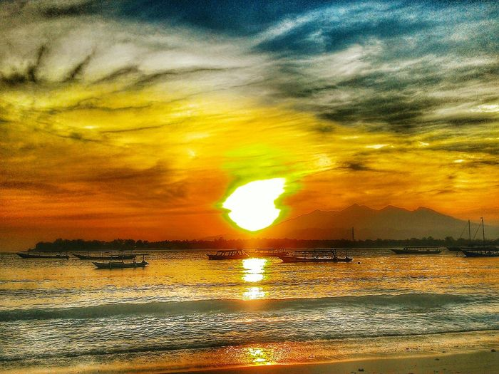 Sunrise from Gili Beach Naturephotography IndonesiaBeach EyeEm Nature Lover EyeEm Best Edits