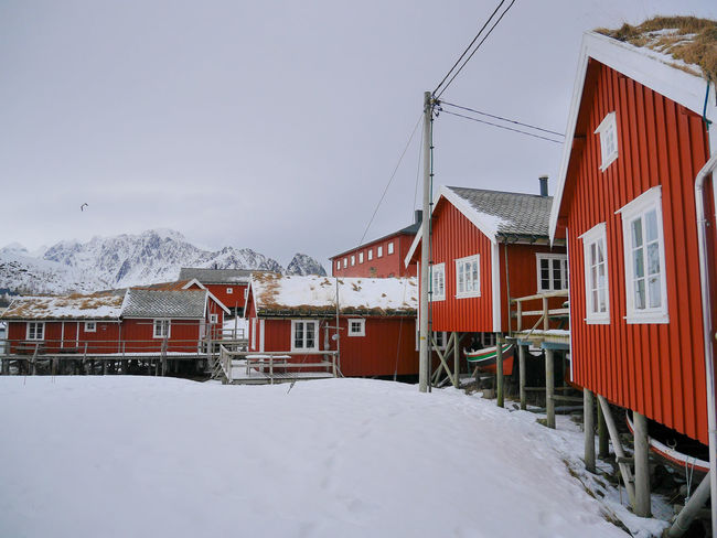 Arctic Cloud Cloudy Cold Temperature Fisherman Fisherman Cabins Fishermanvillage Landscape Lofoten Lofoten Islands Mountain Mountains Norway Red Cabins Reine Scandinavia Snow The Great Outdoors - 2016 EyeEm Awards Tranquil Scene Tranquility Winter Winter Landscape Winter Wonderland Wintertime